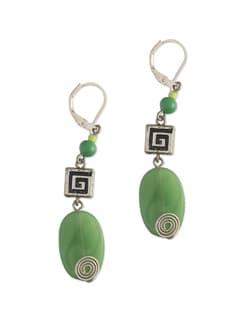 Elegant Green Beaded Earrings - Eesha Zaveri; Jewellery By Design