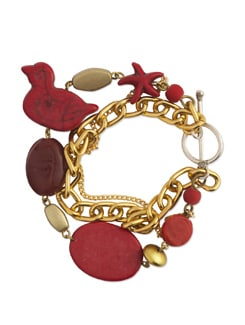 Red & Gold Charm Bracelet - Eesha Zaveri; Jewellery By Design