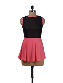 Coral Pink Party Dress - Sanchey