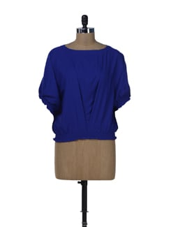 Cobalt Blue Balloon Top - Miss Chase