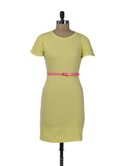 Chic Yellow T-shirt Dress - Miss Chase