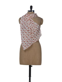 Red Cherry Printed Scarf - Miss Chase