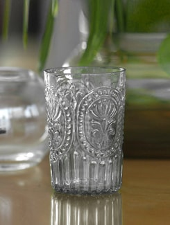 Crystal Clear Embossed tumbler ( Set of 2) - India Circus