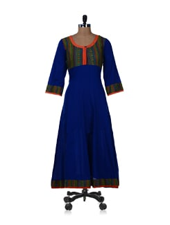 Electric Blue Anarkali Kurta - NAVVYYA