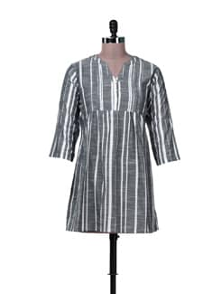 Stylish Striped Grey Tunic - MARTINI