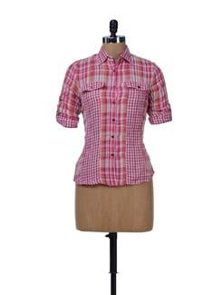 Stylish Red Check Shirt - MARTINI