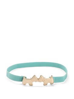 Powder Blue Belt With Puppy Buckle - Nineteen