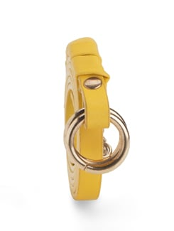 Sunny Yellow Slim Belt - Nineteen