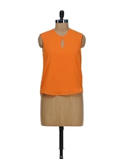 Zesty Orange Keyhole Top - Besiva