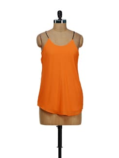 Trendy Orange String Top - Besiva