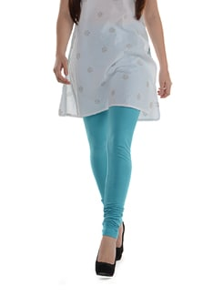 Light Blue Churidar Leggings - AFSANA