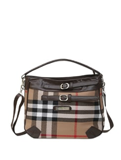 Checked Deep Brown Sling Casual canvas bag for great style! - Lino Perros