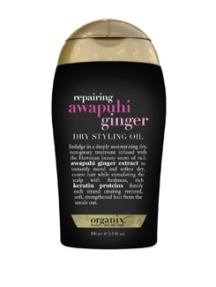 Black Awapuhi Ginger Dry Styling Oil - Organix