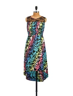 Multicolored Animal Print Dress - Myaddiction