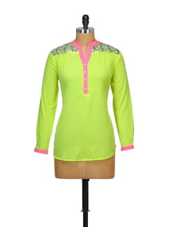 Neon Green Embellished Top - Myaddiction