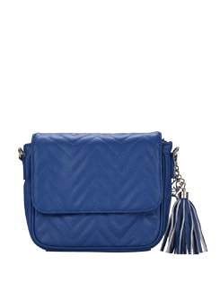 Vanessa- Patterned Blue Sling Bag - Shwa