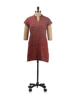 Block Printed Cotton Kurti - Daram