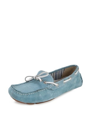 Trendy Loafers In Sky Blue