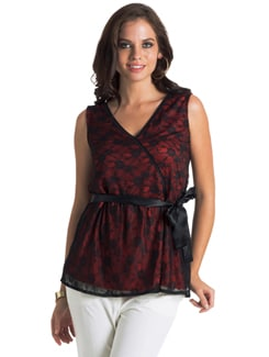 Black & Orange Peplum Top - PrettySecrets