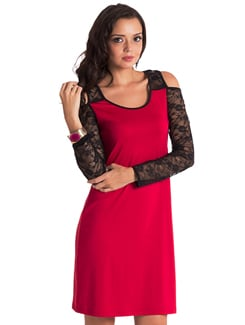 Ruby Lace Dress - PrettySecrets