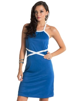 Cobalt Blue Criss Cross Dress - PrettySecrets