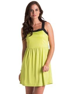 Lime Flared Dress - PrettySecrets