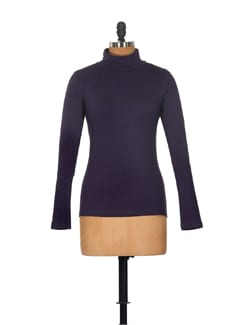 Navy Blue Full Sleeved Top - GRITSTONES