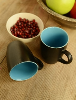 Simple Two-tone Coffee Mug- Set Of 2 - Habitation
