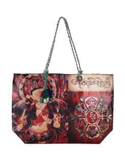 Red Tara Print Tote Bag - The House Of Tara