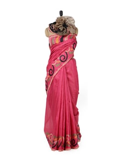 Innocent Pink Printed Saree - ROOP KASHISH