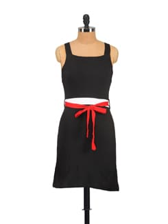 Sexy Black Number With A Red Belt - Vvoguish