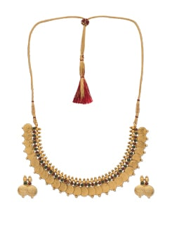 Lakshmi Coin Necklace Set - Jewel Addiction
