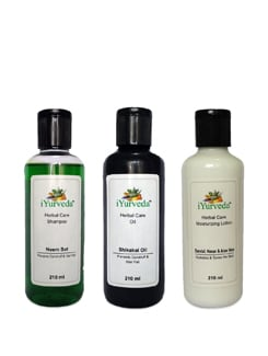 Hair Care & Moisturizer Set (of 3) - iYurveda