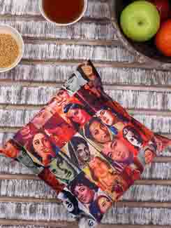 Bollywood Actress Collage Digital Print Cushion Cover - Mesleep