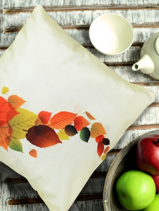 Autumn Leaves Digital Print Cushion Cover