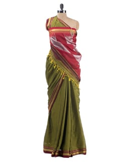 Glossy Art Silk Karwar Irkal Saree - Desiweaves