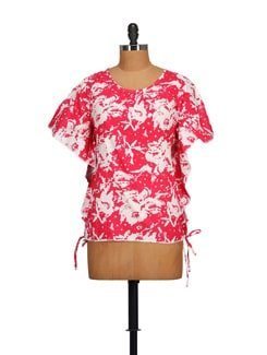 Pink Printed Kaftan Top - STYLE QUOTIENT BY NOI