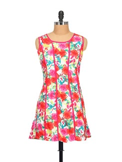 Pink Floral Print Dress - STYLE QUOTIENT BY NOI
