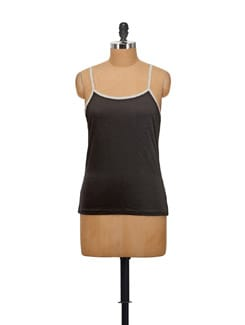 Black Cotton Camisole - STYLE QUOTIENT BY NOI