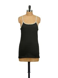 Black Cotton Camisole - STYLE QUOTIENT BY NOI