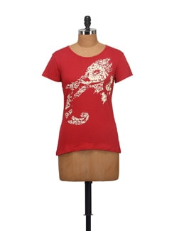 Ganesha Print T-Shirt - STYLE QUOTIENT BY NOI