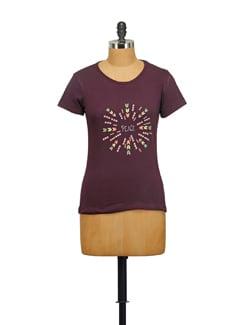 Peace Print T-Shirt - STYLE QUOTIENT BY NOI