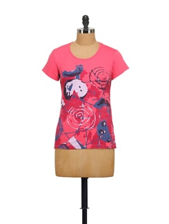 Abstract Print T-shirt - STYLE QUOTIENT BY NOI