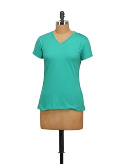 Classic Green T-Shirt - STYLE QUOTIENT BY NOI