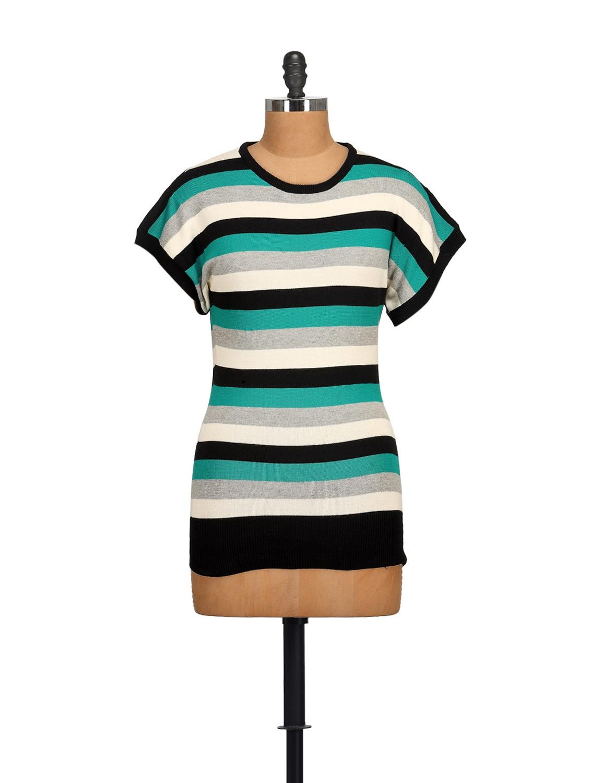 Sky Blue & White Striped Top - NOI
