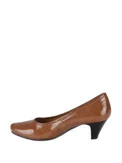 Brown Pumps With A Sleek Finish - La Briza