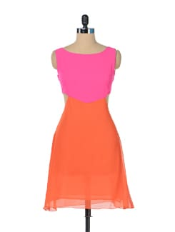 Pink Paradise Colorblock Dress - Miss Chase