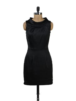 High Neck Black Dress - Yell