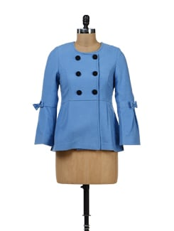 Blue Double Breasted Jacket - Yell
