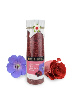 Rose Geranium Bath salt -  online shopping for salt and bubbles